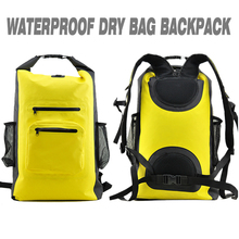 Customized Foldable Mesh PVC Waterproof Dry Bag Hiking Backpack