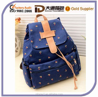 China new style lovely girls school backpack bag