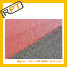 The working principle of colored cold asphalt