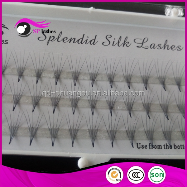 Private Label Custom Eyelash Packaging Synthetic Silk False Eyelashes 2D 3D 4D Pre-fanned Russain Volume Lashes