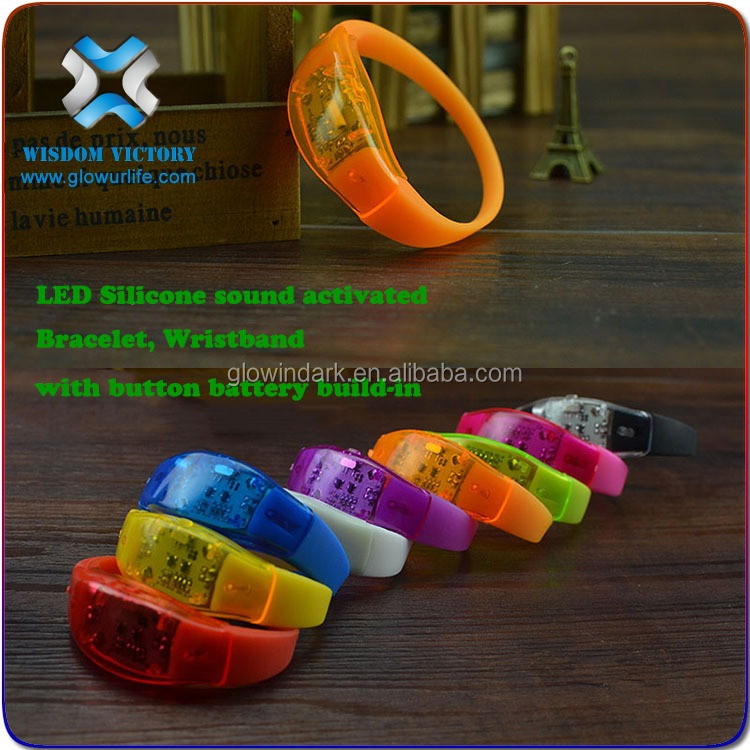 2016 China Wholesale Amazing LED Sound Bracelet,led bracelet control dmx
