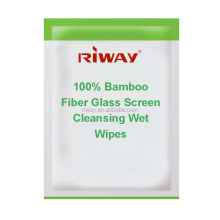 100% Bamboo Fiber Glass Screen Cleansing Wet Wipes