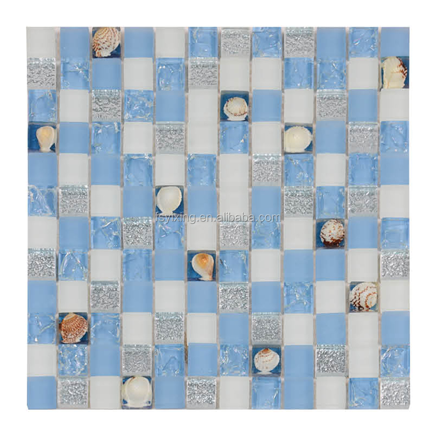 Building decorative shell glass stone mosaic tile for walls