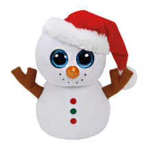2016 NEW 6 INCH 15CM Ty BEANIE BOOS PLUSH TOY CUTE SNOWMAN DOLL SOFT KIDS CHRISTMAS NEW YEAR GIFT STUFFED DOLL