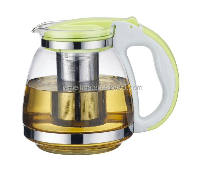 Multiple Glass Teapot Pot Coffee Pot with stainless steel infuser