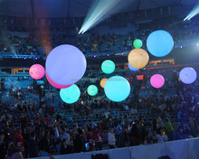 Color changing inflatable LED light, zygote interactive balls for Concert