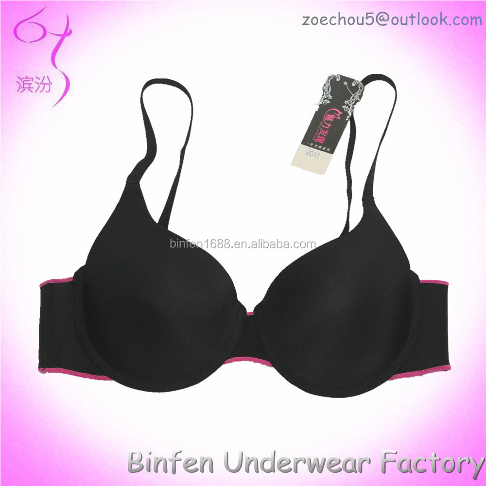 Laser Cut Seamless Contrast Color Design Female Bra