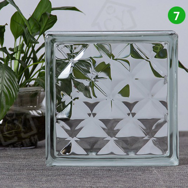 The dimensions 190mm x 190mm x 80mm price solid glass brick