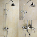 Contemporary solid brass exposed bathroom chrome shower mixer tap with chrome finishing