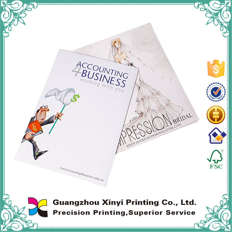 Glossy Cover Custom Design Branded Pocket Folder With Company Logo
