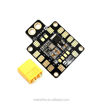 Matek PDb- XT60 Power Distribution Board with 3S - 4S Lipo 5V 12V Output Support up to 6 ESC