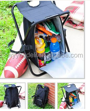 fashion picnic chair backpack cooler bag