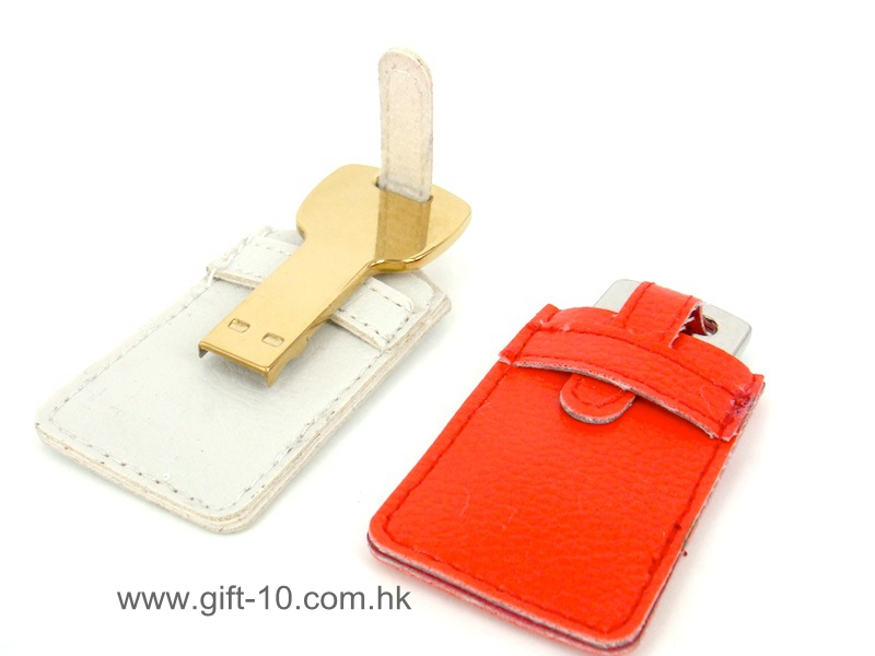 Branded key leather USB flash drives