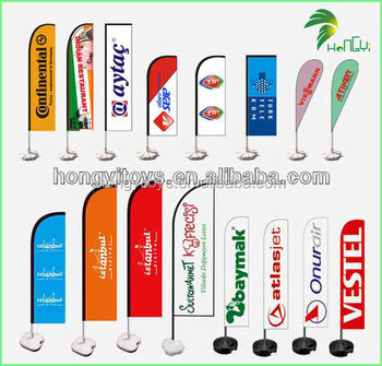 Waterproof Custom Printed Beach Feather Flag