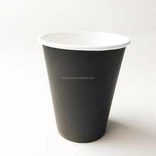12oz disposable single pe coffee cup /hot drink paper cups/black paper coffee cup