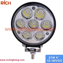 Factory price vehicle truck jeep offroad 12v 21w led work light for cars/ trucks/ motorcycles