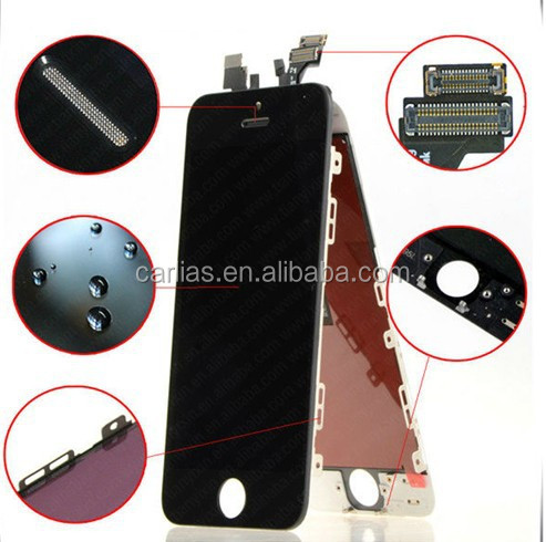 TOP QUALITY original glass lcd for iphone 5 touch screen replacement for iphone 5 for iphone 5 lcd screen