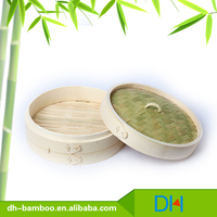 Mini Dim Sum Bamboo Vegetable Steamer Basket