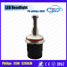 2016 innovative product 55W 5200LM high power car led headlight bulbs H4 H7 H11 9004 9005 9006 9007 D1 D2 D3 D4