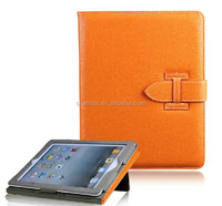 2014 Imported Accessories For ipad 2/3/4 tablet case leather with standing function