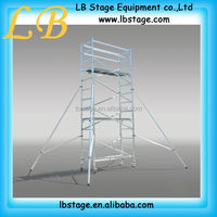 Removing aluminum suspended scaffolding scaffold platform