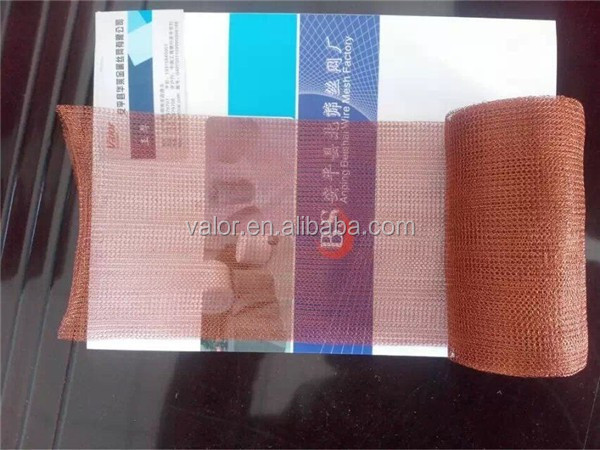 Factory Supply Copper Knitted Wire Gas Liquid FIlter Wire mesh (ISO Approved)