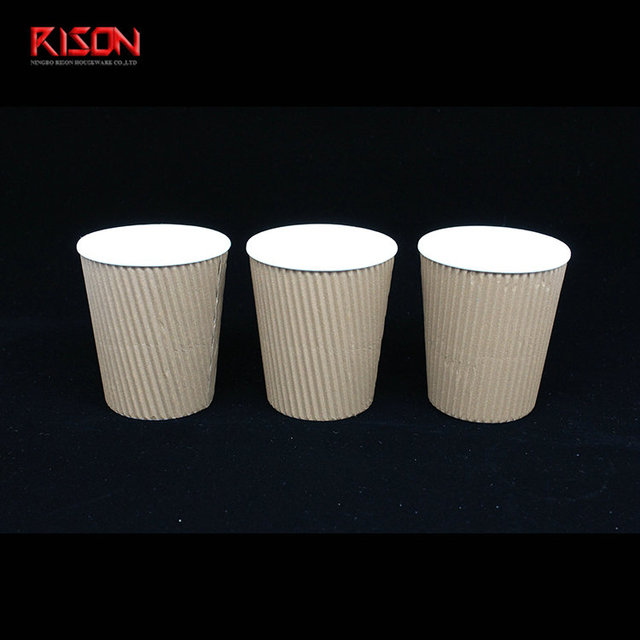 Amazon Hot Selling Ripple Paper Eco Biodegradable Cold Drink Cup