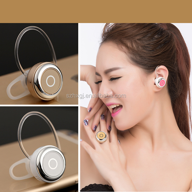 2017 Hot selling Colorful in-Ear Wireless Mini Bluetooth Earphone branded handsfree earphone for mobile cheap earphone