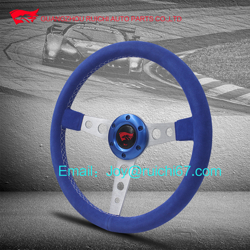 RC 6 Bolt Racing Sport Steering Wheel with Silver Spoke