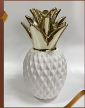 White ceramic fake decorative pineapple figurine for home decor