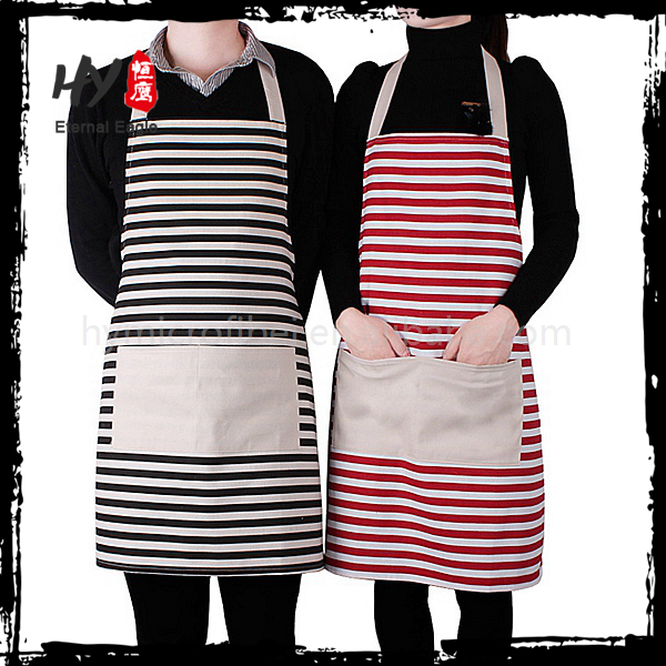 Customized prevent dirty oilcloth apron with CE certificate
