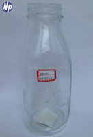 1000ml clear glass baby bottle