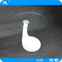 Chirstmas ornaments .Plastic shell glass cover led bar table / led light coffee table.16 color chage led table furniture