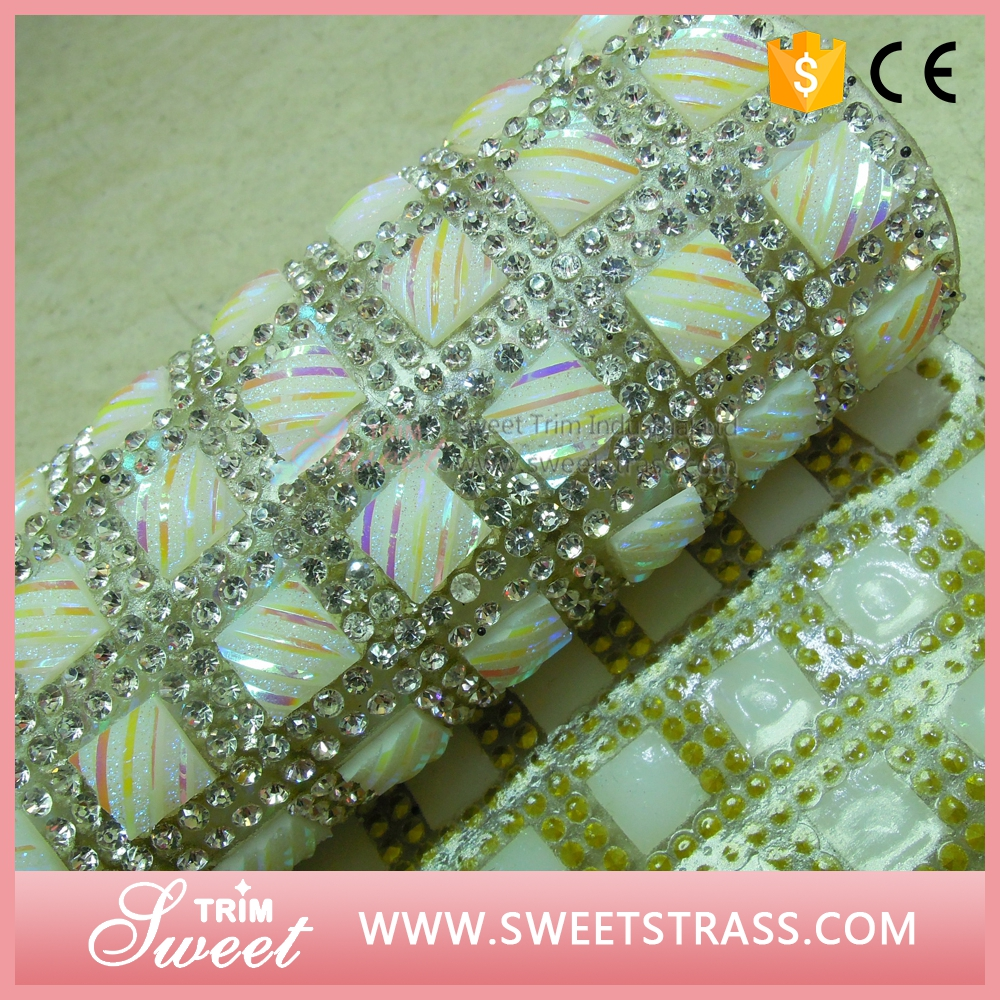 New Fashion 24X40cm decorative hotfix cristal sheet on sale for wall