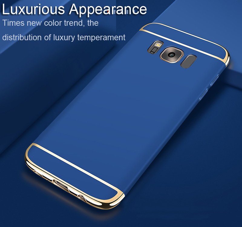 FREE SAMPLE Luxury 3 in1 PC case for samsung galaxy S8, S8 electroplated Shockproof cover case
