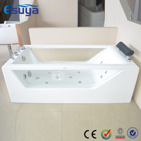 Japan air bubble hot tub clear acrylic double massage bathtubs