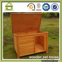 SDD07 Fir wood insulated dog houses with flat roof