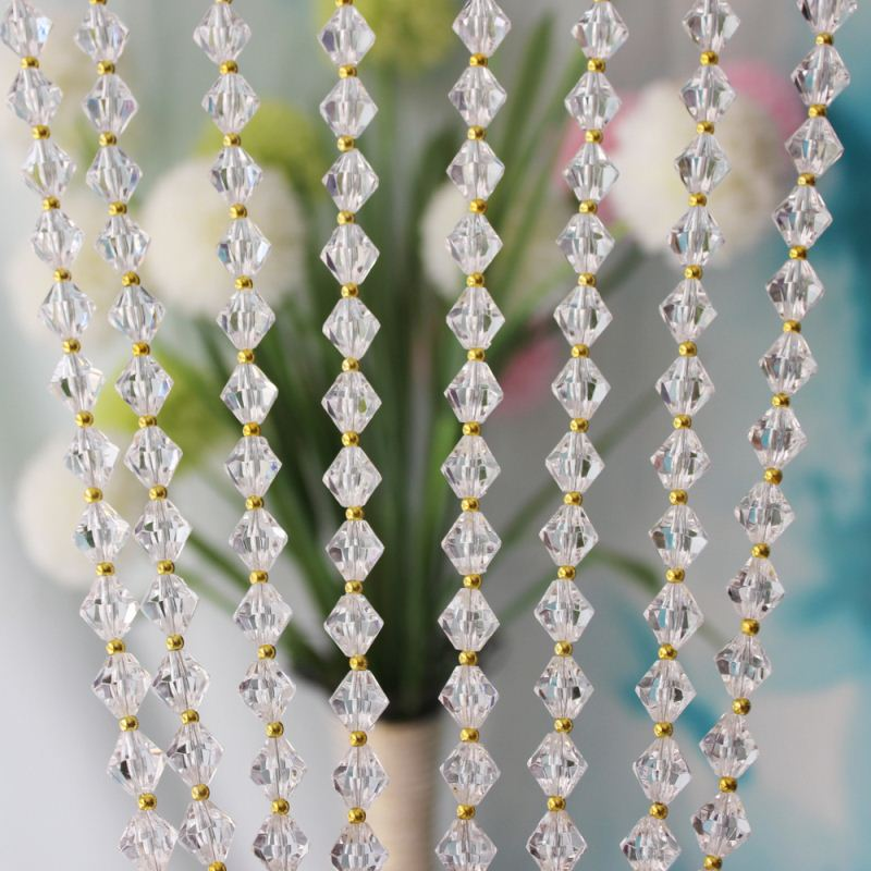 charming elegant acrylic crystal beaded chain curtains for room dividers/home decoration