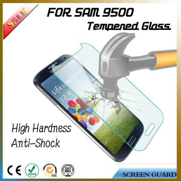 Stylish anti shock explosion proof tempered glass screen protector for mobile phone Samsung galaxy S4 9500