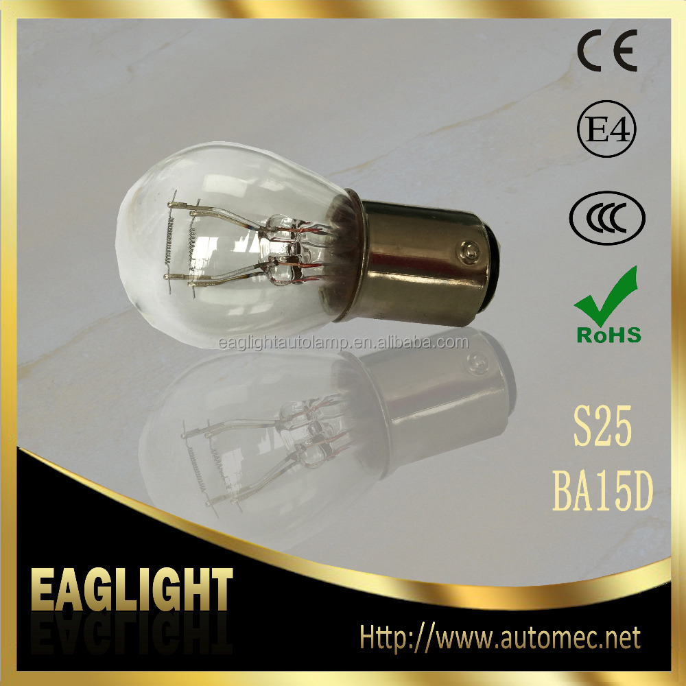 Hot sale new products S25 BA15D 12V21/5W Automotive bulb for stop light tail light