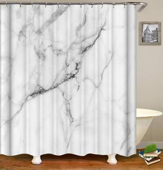 Soft Touch Waterproof Polyester Decorative Bathroom Curtain