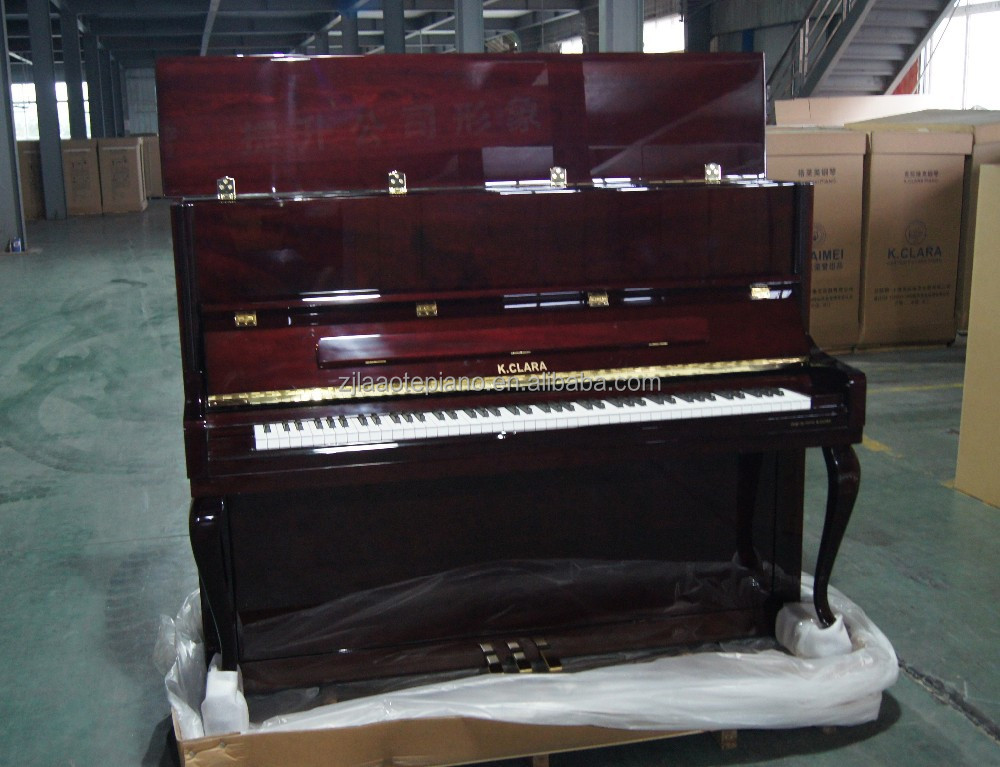 Solid Wood Keyboard Mahogany Polished Red Upright Piano AC-122D for Sale