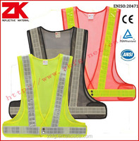 Customizable logo breathable high visibility mesh safety vest