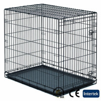 Dog cage large dogs folding metal dog crate