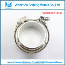 3'' Quick Stainless steel v band clamp with aluminum pipe male and female flanges