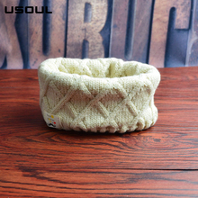 Autumn and Winter New Fashion Children All-match Beard Knit Rhombus Scarf