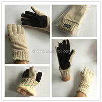 Winter Acrylic Knitted Leather Palm Wool