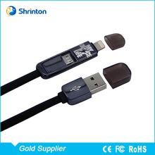 Low Price Flex Ribbon 2 in 1 USB Mobile Phone Charger Cable for iPhone and Samsung