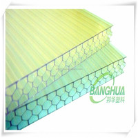 guangzhou banghua customized size and color polycarbonate pc hollow sheet