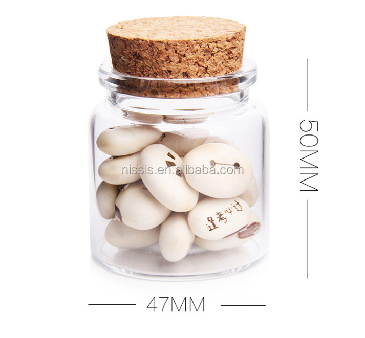 High Borosilicate Glass Material Material and Gift Industrial Use glass bottle with wood cork